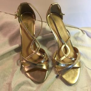 Talbots gold strappy sandals